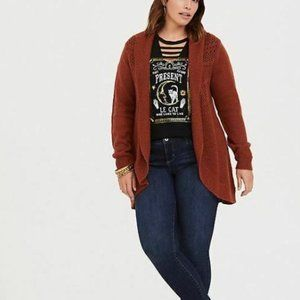Torrid Womens Open Stitched Shawl Cardigan Sweater